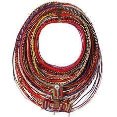 Kenyan married Samburu woman's beaded necklace.  Mingei International Museum~