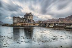 The iconic Eilean Donan castle in Dornie (Kyle of Lochalsh), Scotland Kyle Of Lochalsh, Eilean Donan, Tower Bridge, Monument Valley, Scotland, Castle, Landscapes, Travel, Paisajes