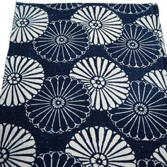 Extra, Extra Nice Antique Japanese Katazome Cotton Textile Square, Unique Chrysanthemum Design, From Old Futon Cover, Custom Made Curtains, Futon Covers, Cotton Textile, Indigo Dye, How To Make Pillows, Japanese Fabric, Chrysanthemum, The Fresh, Bloom