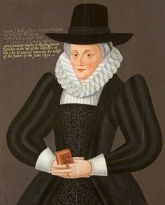 Joan Popley by Robert Peake (circle of)  Oil on panel, 82 x 67 cm Collection: Salisbury Guildhall