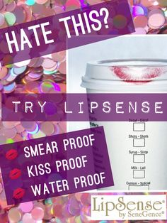 Hate when you leave your lipstick on your coffee cup? Try LipSense, and you'll never worry about staining your Starbucks cup again! www.senegence.com Distributor ID# 191582