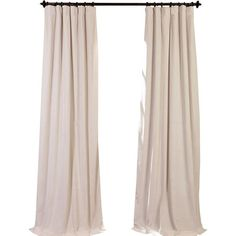 Hackney Velvet Solid Blackout Rod Pocket Single Curtain Panel ($59) ❤ liked on Polyvore featuring home, home decor, window treatments, curtains, black out curtains, blackout curtain panels, velvet blackout curtains, blackout drapery and black out window panels