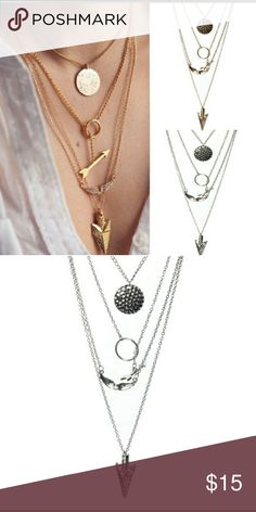 Beautiful  arrow necklace Beautiful silver arrow layered necklace in silver color Jewelry Necklaces