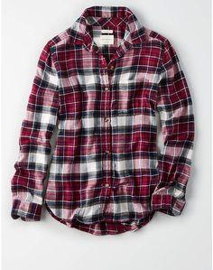 174faeefb32729 American Eagle AE Ahhmazingly Soft Flannel Boyfriend Shirt   AE Ahhmazingly American Boyfriend Shirt