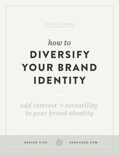 """Committing to a brand identity, for yourself or a client, can easily become paralyzing. Rather than embracing paralysis, I wanted to share a few tips from a brand identity designer's perspective on how to diversify your brand so you don't feel """"stuck"""" with limiting brand, and instead feel inspired."""