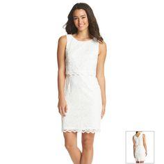 Ivanka Trump® Lace Popover Dress