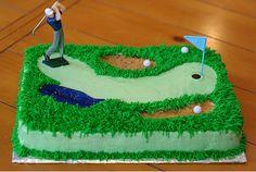Golf Course cake!