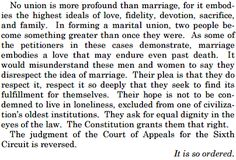 The Closing Paragraph In The Supreme Court's Marriage Ruling Is Beautiful