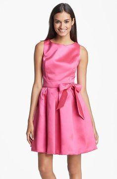 Isaac Mizrahi Hot Pink Mikado Fit & Flare Sleeveless Cocktail Dress. Visit Page - http://www.ebay.com/itm/-/121714619012?roken=cUgayN