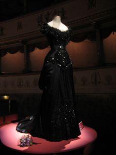 Dress worn by soprano Maria Callas in a production of Verdi's La Traviata.
