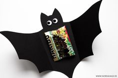 Fledermauskarte / DIY Halloween Bat Treat Card