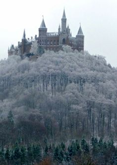 Hohenzollern Castle is a castle about 50 kilometers south of Stuttgart, Germany. It is considered the ancestral seat of the Hohenzollern family, which emerged in the Middle Ages and eventually became German Emperors. Wikipedia