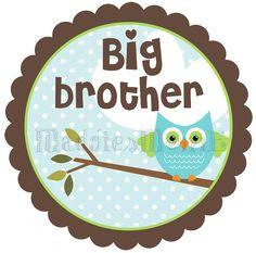 Big Brother Owl DIY Iron on Transfer  Harrison by MaddiesMomE, $6.00