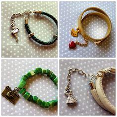 Bransolety z zawieszkami od Craftoholic Shop :) Bracelets with charms :)   #charms #bracelet #jewelery #handmade