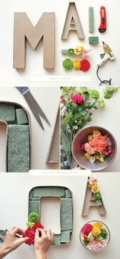 flower letter craft.