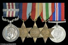 Medals: His Military Medals for bravery have been uncovered and are going under the hammer for £50,000