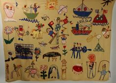 Anonymous Works: A 1930's Swiss Folk Art Textile