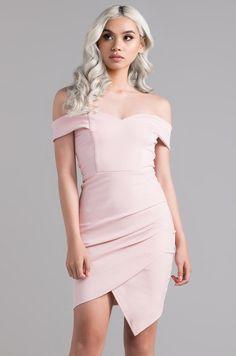 Front View Seventh Heaven Mini Dress in Blush