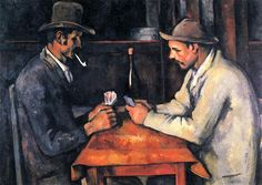 The Card Players, 1893 by Paul Cezanne, Final period. Post-Impressionism. genre painting. Private Collection