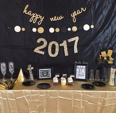 Here's to my Pinterest fail of trying to make fabric look wavy and it just looking wrinkly! It was still a great night, a great party, and a great start to a new year! Wrinkles and all! . . . #pinterest #pinterestfail #pinterestinspired #newyear #newyears #newyearseve #newyear2017 #newyeareve #newyearparty #newyearseveparty #instanewyear #2017 #january #january1st #blackandgold #decorate #decoration #decorations #decorating #decorative #decorator #instadecor #instadesign #instaparty #home...