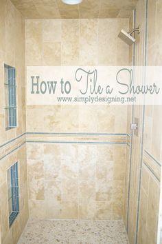 how to tile a shower, bathroom ideas, diy, home improvement, plumbing, tiling