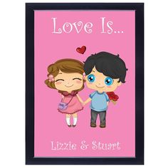 Personalised Poster - Love Is...  from Personalised Gifts Shop - ONLY £19.95