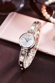 Nuovo bracciale orologi da donna di marca di lusso in acciaio inox strass da  polso per 813606770f0