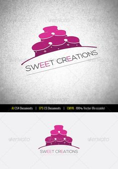 Sweet Creations Logo Template — Vector EPS #pastries #flower • Available here → https://graphicriver.net/item/sweet-creations-logo-template/2714084?ref=pxcr