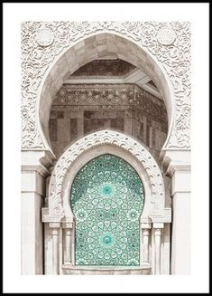 Beautiful architectural poster of a white Moroccan building with a beautiful mosaic turquoise door. New York Poster, City Poster, Mode Poster, Paris Poster, Morning Sun, Ballerina Poster, Brooklyn Bridge, Geometric Shapes Art, Window Poster