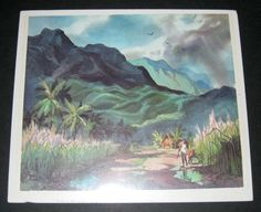 jungle scene with mountains