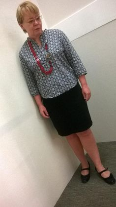 @BurdaStyle blouse 06-2013 -118 & @ColettePatterns Mabel skirt #mmmpr sue kenney via twitter week 5