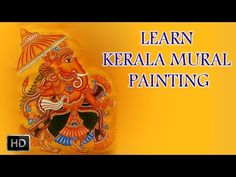 Kerala Mural Design painted with Artists' Acrylic Colours - YouTube