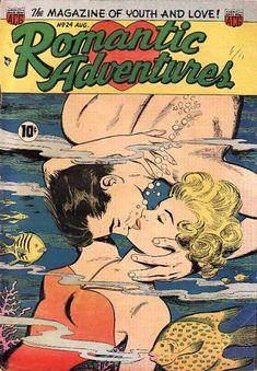Romantic Adventures #24. Underwater comic book love