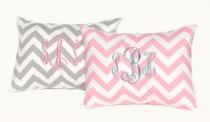 Monogrammed Pillow Baby Girl Pillow by FestiveHomeDecor on Etsy