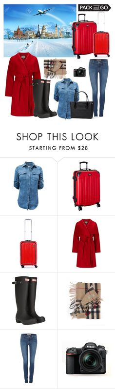 """""""Let's Travel!"""" by kaca-jeremic ❤ liked on Polyvore featuring Kenneth Cole Reaction, Home Decorators Collection, Phase Eight, Hunter, Burberry, Levi's and Nikon"""