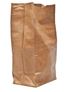 Brown Paper Bag Leather Clutch / American Rag. Because I totally want to pay money for a purse that resembles a paper bag around a 40