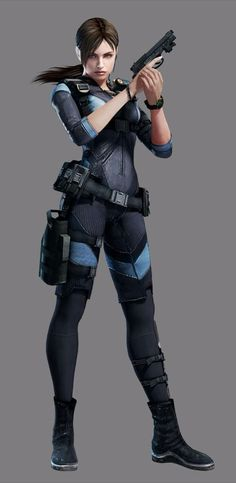 View an image titled 'Jill Valentine Art' in our Resident Evil: Revelations art gallery featuring official character designs, concept art, and promo pictures. Resident Evil 5, Valentine Resident Evil, Resident Evil Costume, Jill Valentine, Sci Fi Characters, Video Game Characters, Female Character Design, Character Concept, Apocalypse Survivor