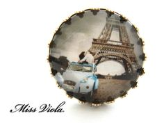 Silver Ring  ''  MY LOVE '' by missvioladesigns on Etsy, $20.00