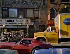 "Exhibition: 'Wayne Sorce: Urban Color' at Joseph Bellows Gallery, La Jolla, California. ""Superb."" SEE THE FULL POSTING AT https://artblart.com/2017/11/17/exhibition-wayne-sorce-urban-color-at-joseph-bellows-gallery-la-jolla-california/ Photo: Wayne Sorce. 'Varick Street, New York' 1984"