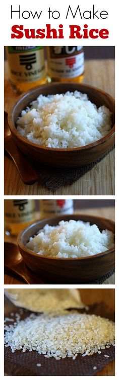 Healthy Recipes : How to make sushi rice? The easiest and no-fuss recipe to make sushi rice from s. How To Make Sushi, Food To Make, Making Sushi At Home, Sushi Rice Recipes, Cooking Sushi Rice, Veggie Recipes, Sushi Night, Tasty, Yummy Food