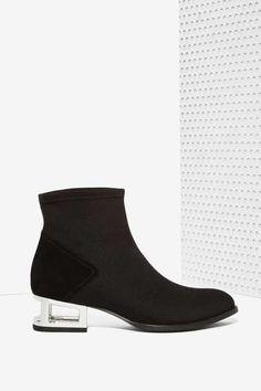 Jeffrey Campbell Andare Neoprene Suede Bootie - Shoes