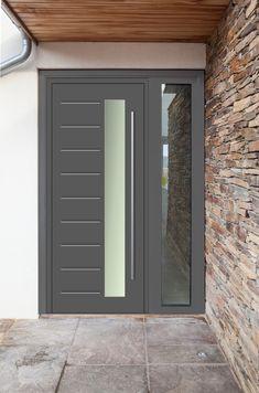 104 reference of grey composite front door cost Modern Entrance Door, Modern Exterior Doors, Modern Front Door, Front Door Entrance, House Front Door, Front Door Design, House Entrance, Entry Doors, Best Front Doors