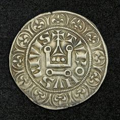 """Royal France Gros Tournois Silver coin of 1290, Philip IV """"the Fair"""". French coins, French Royal and Medieval Coins, collection French Royal coins, Coins of Medieval Europe, French Royal Coinages, Medieval Money and Coins, Medieval European Coins, Collecting the Coins of France."""