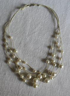 Collana con filo di Spago cerato e Perle