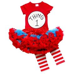 So Sydney Toddler Girl Thing 2 Tutu 3 Pc Outfit Costume, Top Pants Tutu Skirt (XXXL Thing ONE): This adorable outfit is picture perfect for your sweet princess. So Sydney is a trademarked brand. Dr Seuss Costumes, Halloween Costumes For Girls, Girl Costumes, Kids Outfits Girls, Toddler Girl Outfits, Thing One Costume, Dr Seuss Party Ideas, Girl Doctor, Running Costumes