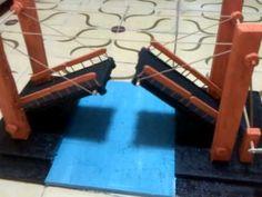 Maqueta puente elevadizo, sistema manual (Maquina simple)
