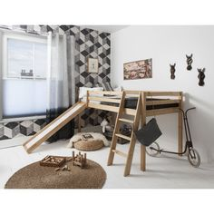 Mid Sleeper Cabin Bed with Slide   Noa & Nani
