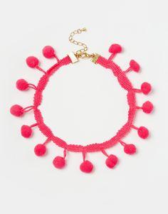 Rock 'N Rose Iggy Pom Pom Choker Necklace