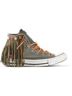 CONVERSE Fringed Hi-Top Trainer