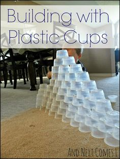 Building with Plastic Cups: Simple Sibling Play from And Next Comes L
